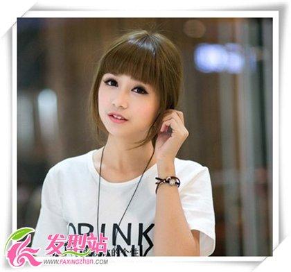 2013夏季女生可爱齐刘海发型图片(9)