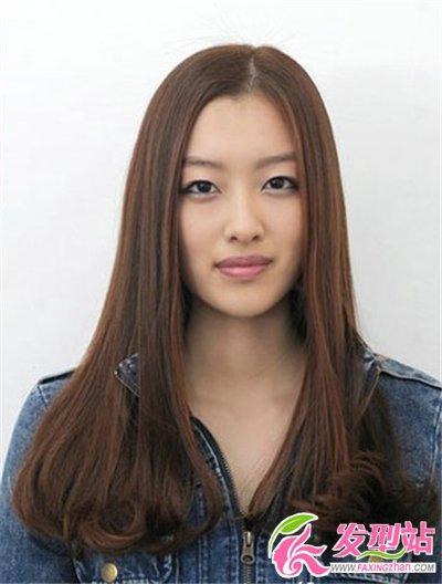 简单时尚无刘海卷发发型图片