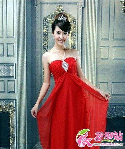 红色晚礼服搭配什么发型  高贵优雅宴会发型盘点