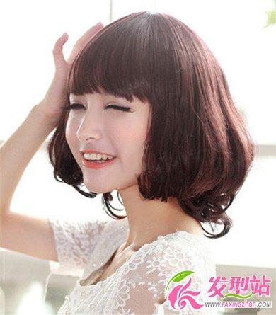 2014年短发女生流行烫发发型 最新时尚短发图片图片