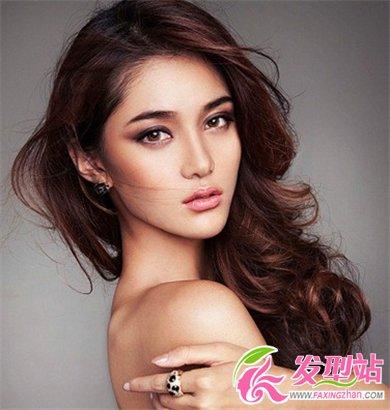 2014流行长卷发发型 甜美韩式卷发发型图片(3)图片