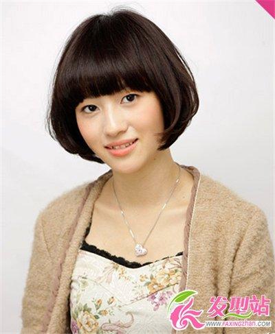 女生什么样的短发可爱 清新可爱齐刘海短发发型