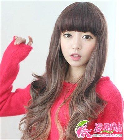 2014女生烫发韩式写真发型时尚发型塑造清甜男流行发型图片