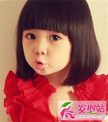 儿童发型      萝莉头符合5岁女宝宝的气质,水汪汪的大眼睛在齐刘海图片