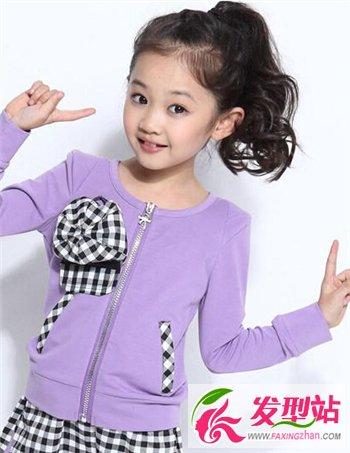 中发型小女孩可爱扎发时尚长发也有儿童卖萌魔巾做发箍怎么扎图片