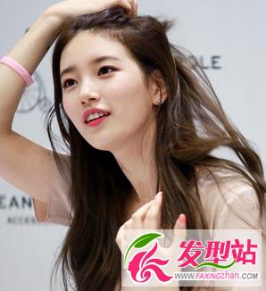 发型是淑女系女生的最爱,烫卷的弧度自然不造作,搭配板栗色的染发颜色