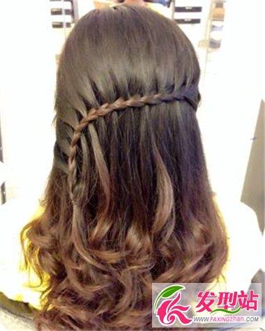 女生流行长发设计 编发或卷发给你不一样的美感