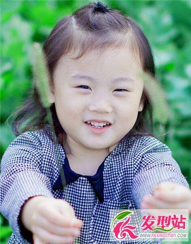可爱小女孩儿发型图片