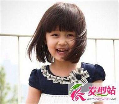 小女孩萝莉短发发型 齐刘海设计俏皮可爱每一天-儿童