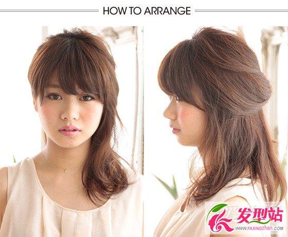 中长发女生三款漂亮扎发教程 三分钟让你拥有气质发型
