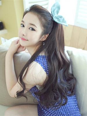 学生扎发_学生妹无刘海发型 清纯美丽最可爱-场合发型-发型站_最新流行 ...