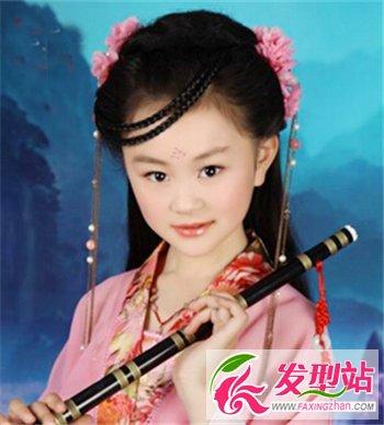 适合小女孩拍写真的可爱扎发 儿童写真扎发图