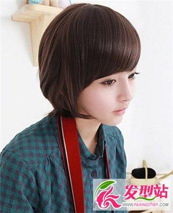 精选圆脸短发发型 魅力修颜又瘦脸