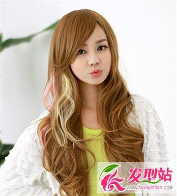 挑染成为染发新时尚 女生流行挑染发型图片图片
