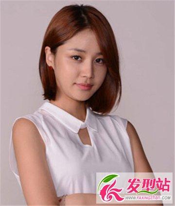 瘦脸修颜发型设计 胖妹子们的甜美短发时光(5)