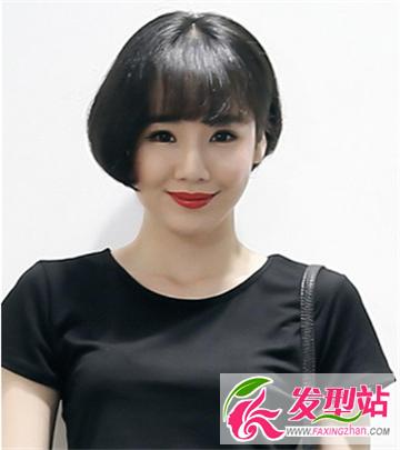 空气刘海儿短发发型分享展示图片