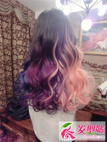2015最新挑染渐变色染发 五彩缤纷的时尚发型图片