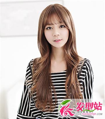 瓜子脸的mm们适合的韩范十足的发型 清新甜美可爱的女生发型