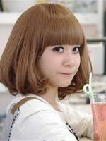 韩版梨花头女生长短发发型 甜美可爱浪漫图片