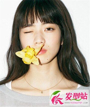 菱形脸适合什么刘海 平刘海修颜瘦脸甜美减龄