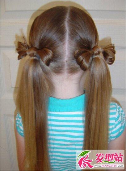 30款小女孩女孩扎法最全儿童编发图片-贴吧发刀手齐刘海剪儿童发型图片