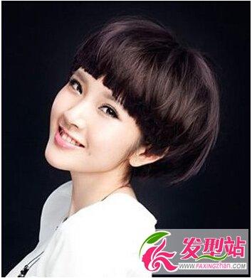 瓜子脸,女生发型,蘑菇头