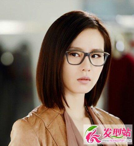 适合戴眼镜的发型女生气质发型图片 最新发型 最新流行发型设计