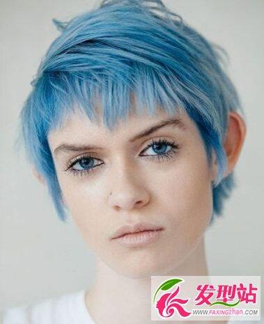 女生发型,挑染