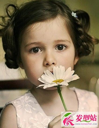 发型儿童扎发儿童小辫子甜又萌-发型女孩-图片摩羯座适合半丸子头吗图片