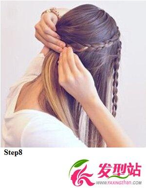中学生女生清纯编发 发型图解教程图片