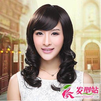 奇刘海中长发型分享展示图片