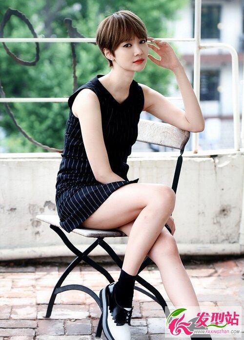 黄静茵vs高俊熙 20款韩式短发发型大全图片
