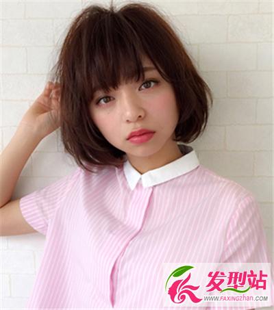主打韩式学院波波头 清新俏皮很可爱(4)-bobo发型-站