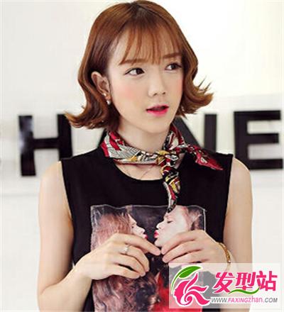 做俏皮可爱小女生 搭配灵动空气感刘海(4)-刘海发型