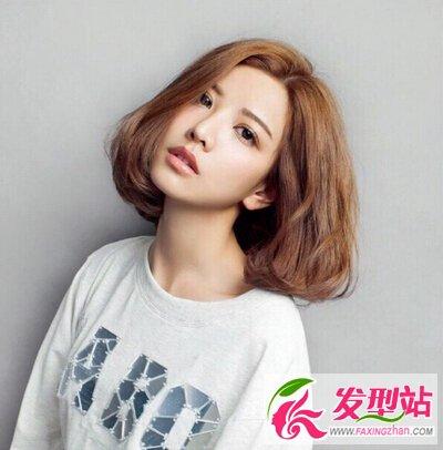 韩式短发染发