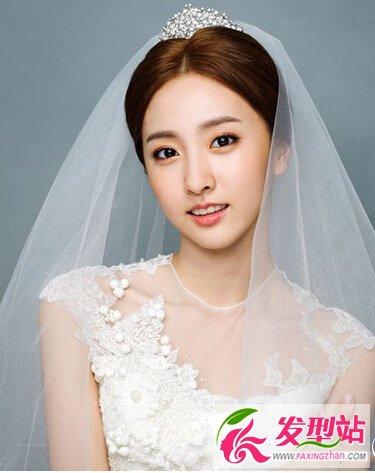 唯美的韩式新娘发型