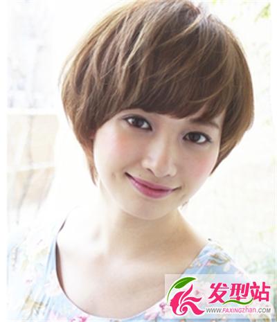 女士日系齐耳短发发型 清新大方修颜显瘦