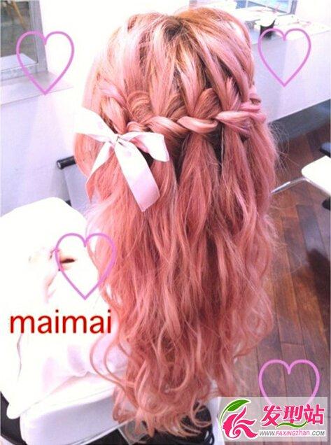 女生粉色系染发发型合集