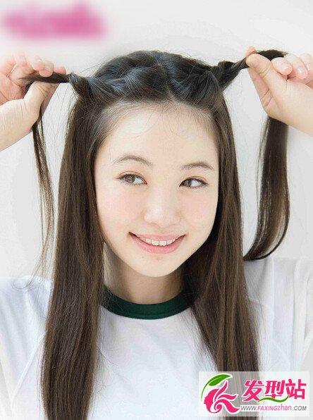 四款最新小学女生发型扎法图片