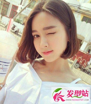 最新女生韩式短发发型
