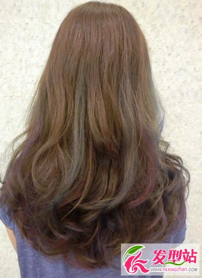 2016流行挑染发型图片 迷幻色彩挑染发型大全图片