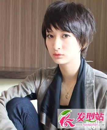 对于方脸的女生来说,选择波波头,应该把刘海剪成层次的薄刘海,会让图片
