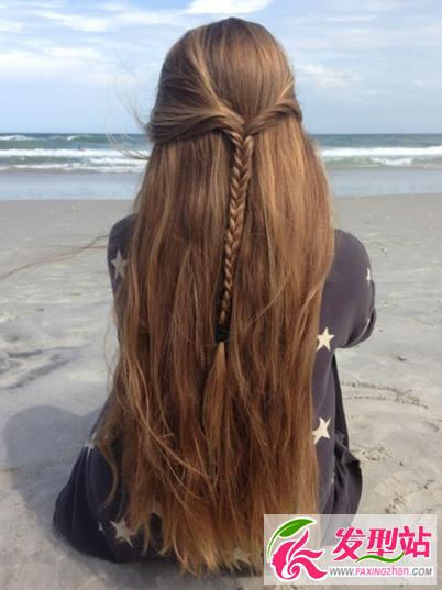 女生长发及腰发型设计