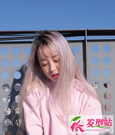 【新发型】最新韩国流行发色 女生个性原宿风染发发型图片
