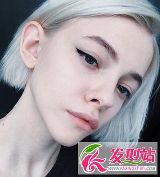 【新发型】非主流原宿系女生染发 欧美风另类染发颜色发型图片