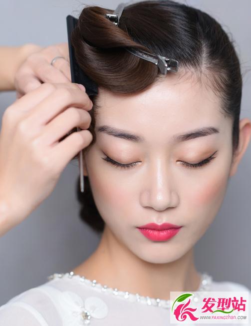新娘盘发发型教程图解