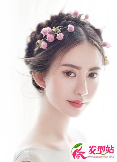 花仙子新娘发型造型 春季新娘发型设计发布图片