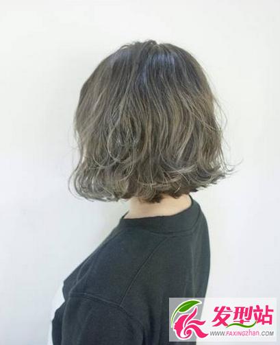 青木亚麻灰染发发型 2017年流行发色图片参考 四图片