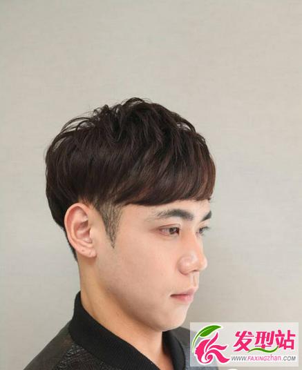 韩式,纹理烫,定位烫,帅气,男生短发