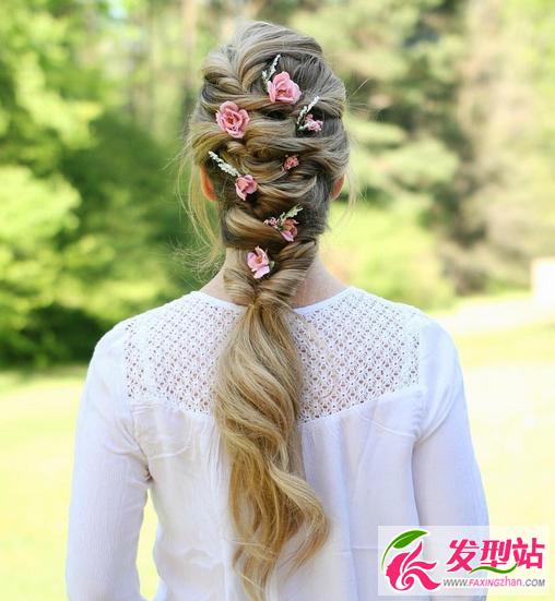 欧式新娘编发盘发 2016最新婚礼新娘发型图片图片